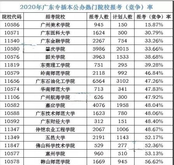 广州专插本政策